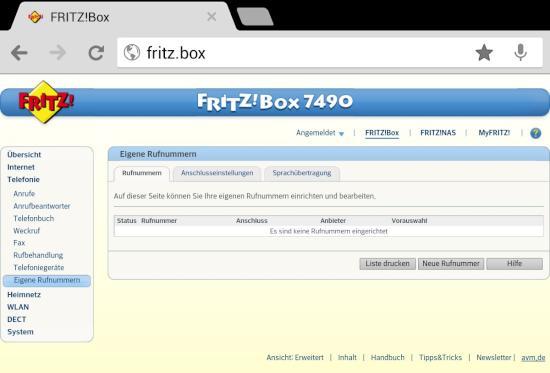 FritzBox 7490 richtig einrichten
